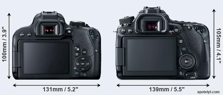 800D and 80D rear side