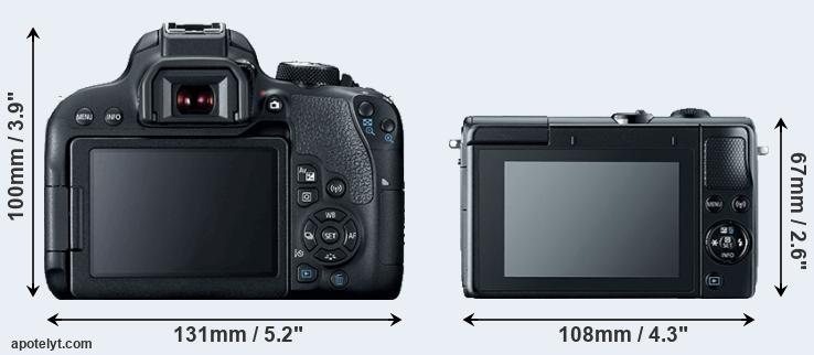 800D and M100 rear side