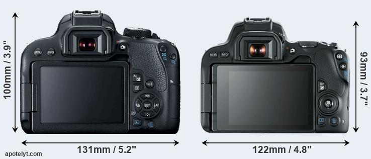800D and SL2 rear side