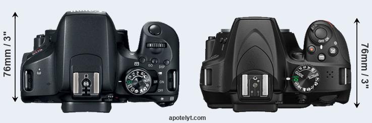 Canon 800D vs Nikon D3400 Comparison Review