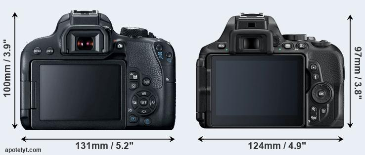 800D and D5600 rear side