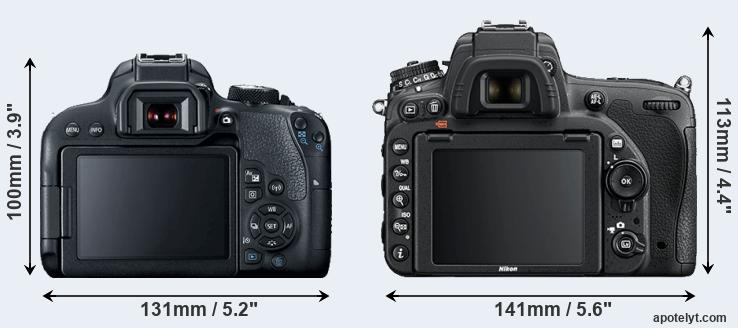 800D and D750 rear side
