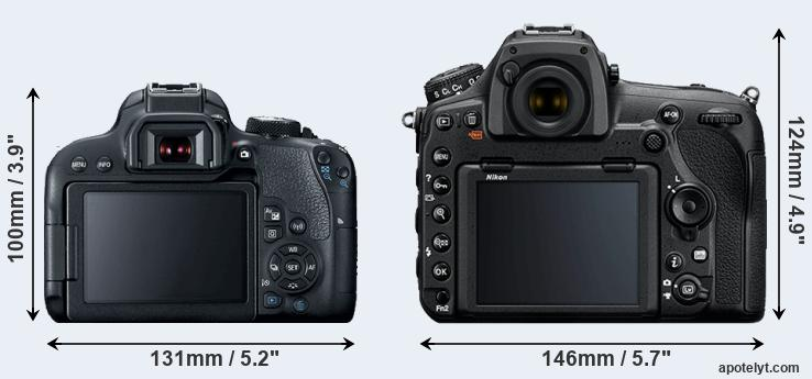 800D and D850 rear side