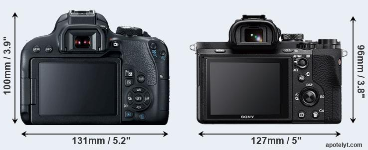 800D and A7 II rear side
