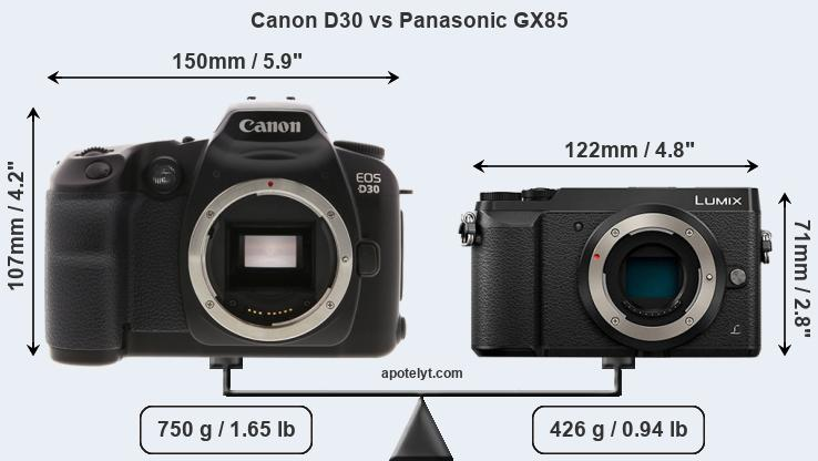 Compare Canon D30 and Panasonic GX85