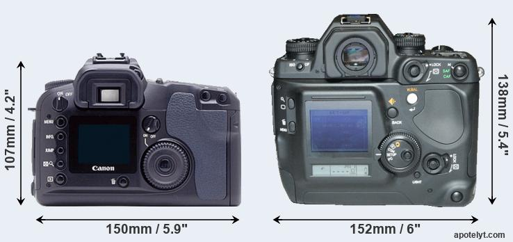 Canon D60 and N Digital rear side
