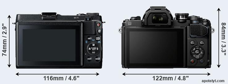 G1X Mark II and E-M10 III rear side