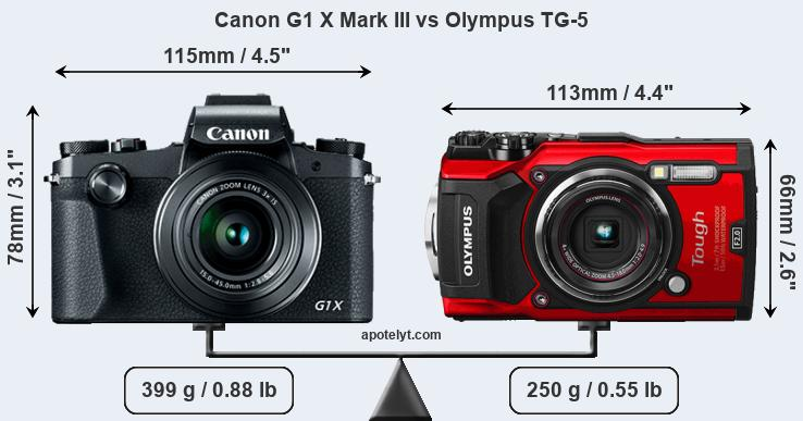Compare Canon G1 X Mark III and Olympus TG-5