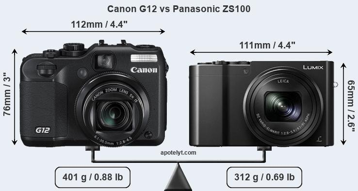 Compare Canon G12 and Panasonic ZS100