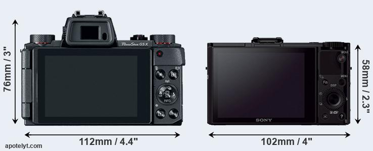G5X and RX100 II rear side