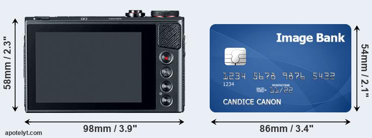 G9X and credit card rear side