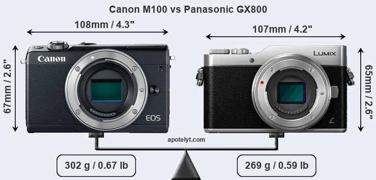 Compare Canon M100 vs Panasonic GX800