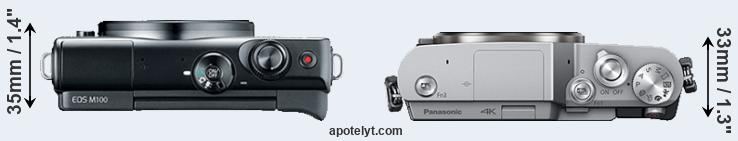 M100 versus GX800 top view