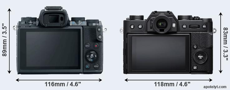 M5 and X-T20 rear side