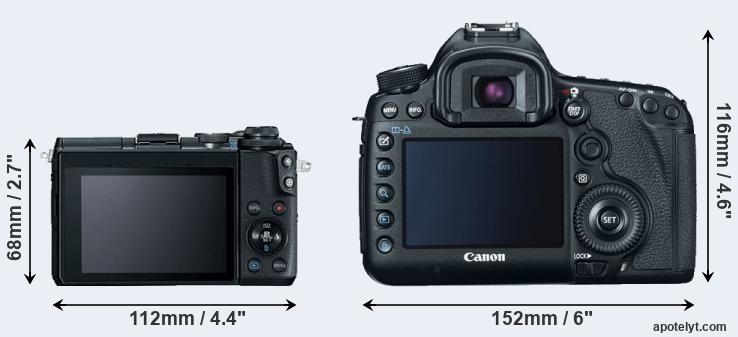 M6 and 5D Mark III rear side