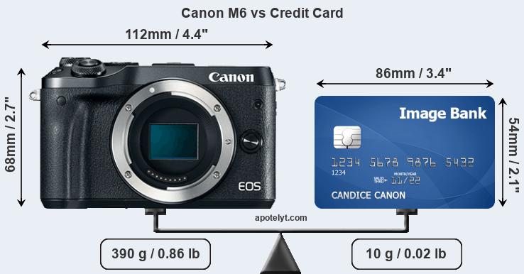 Canon M6 vs credit card front