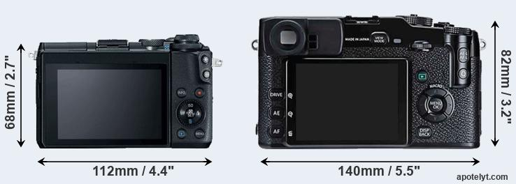 M6 and X-Pro1 rear side