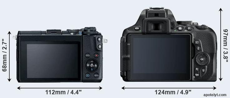 M6 and D5600 rear side