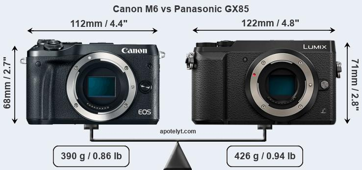 Compare Canon M6 vs Panasonic GX85