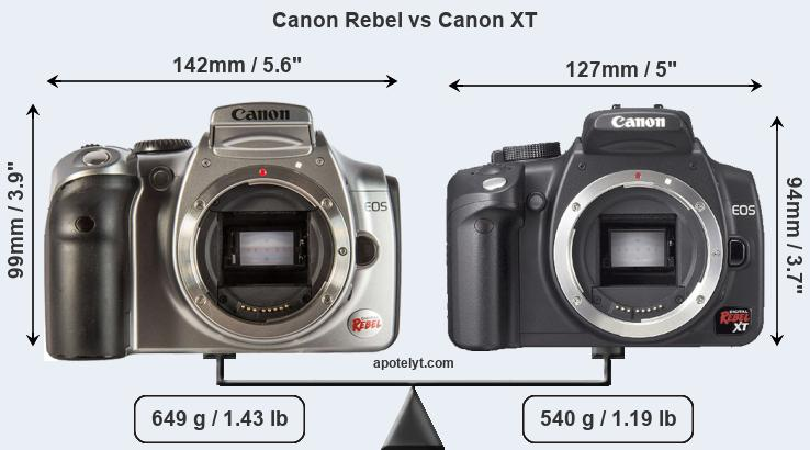 Compare Canon Rebel and Canon XT