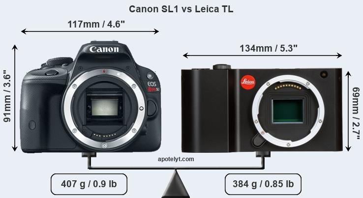Compare Canon SL1 and Leica TL