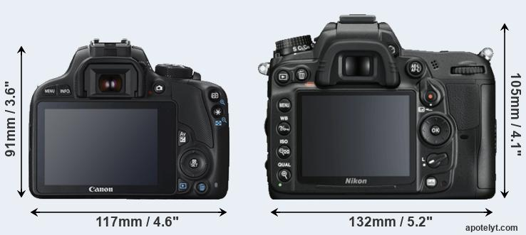 SL1 and D7000 rear side