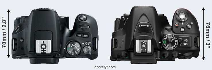 SL2 versus D5300 top view