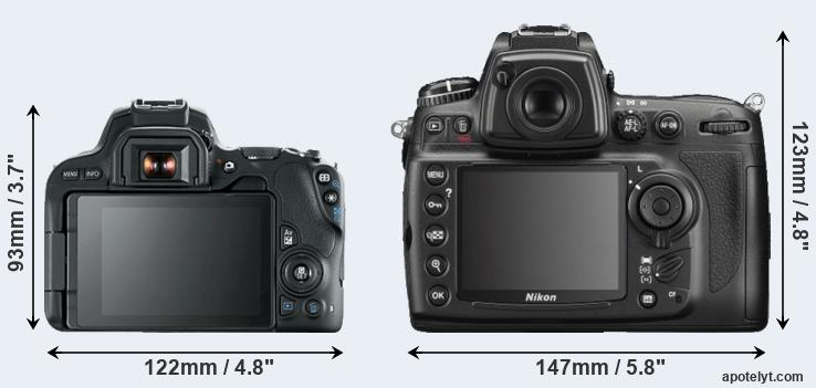 SL2 and D700 rear side