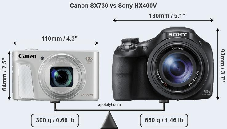 Compare Canon SX730 vs Sony HX400V