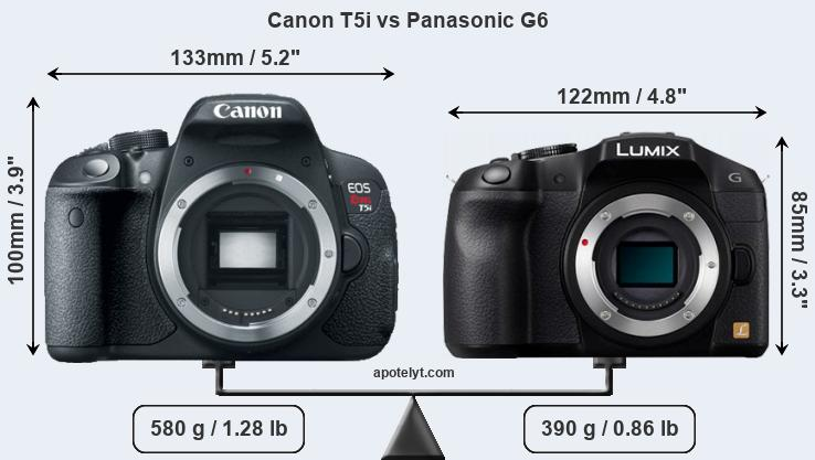 Compare Canon T5i and Panasonic G6