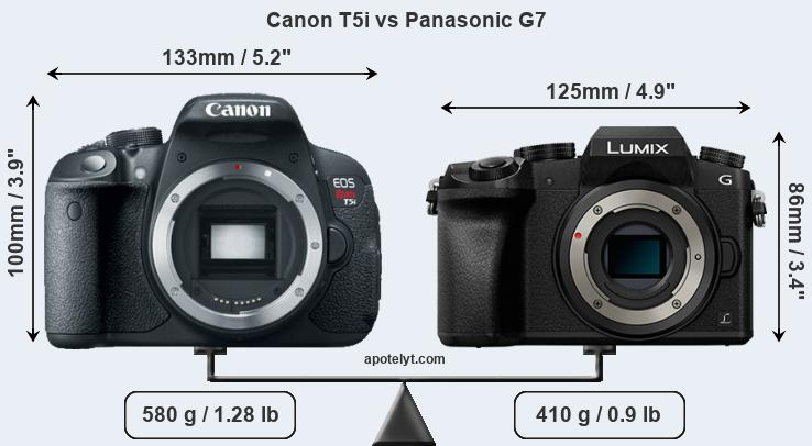 Compare Canon T5i vs Panasonic G7