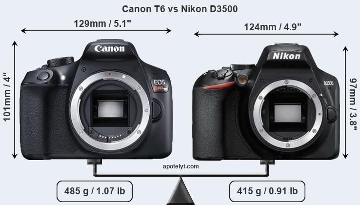 Canon eos rebel t6 vs nikon d3500