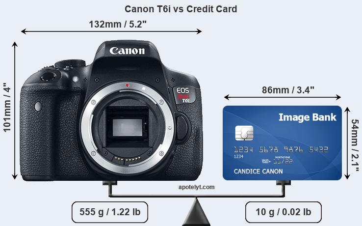 Canon T6i vs credit card front