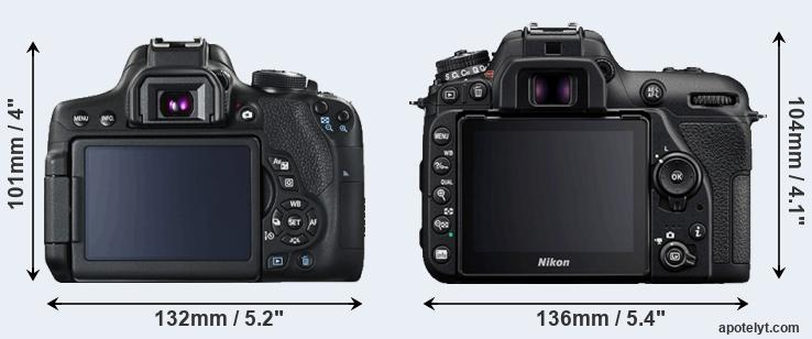 T6i and D7500 rear side