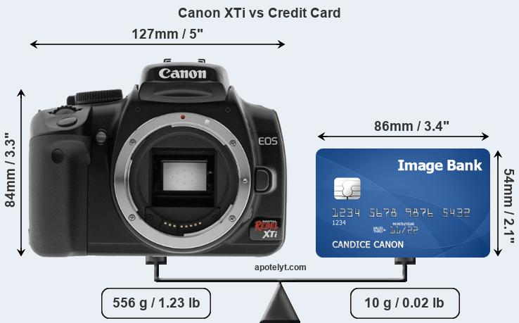 Canon XTi vs credit card front