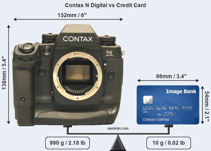 Contax N Digital vs credit card front