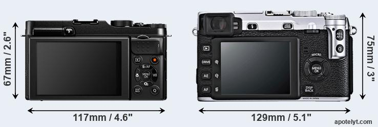 X-A1 and X-E1 rear side