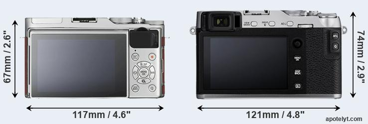X-A3 and X-E3 rear side