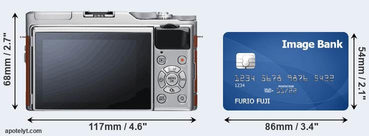 X-A5 and credit card rear side