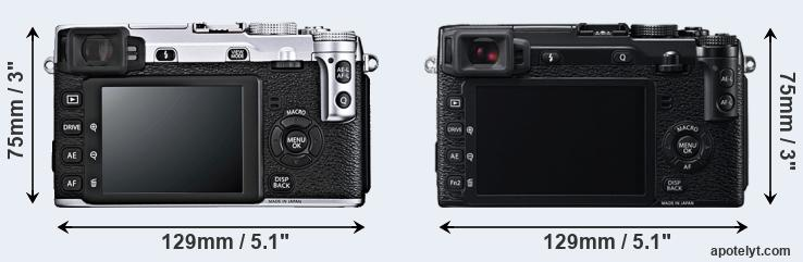 X-E1 and X-E2 rear side
