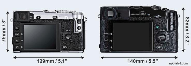 X-E1 and X-Pro1 rear side