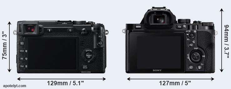 X-E2 and A7 rear side