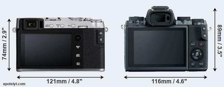 X-E3 and M5 rear side