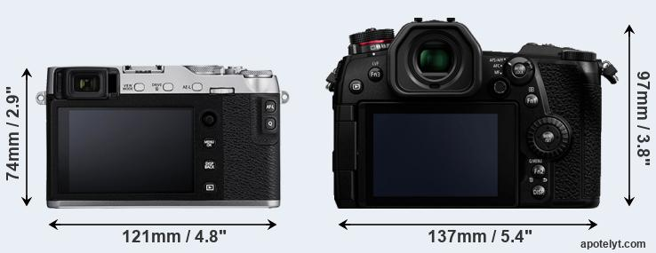 X-E3 and G9 rear side