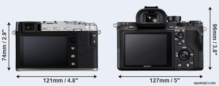X-E3 and A7R II rear side