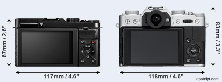 X-M1 and X-T10 rear side