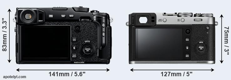 X-Pro2 and X100F rear side