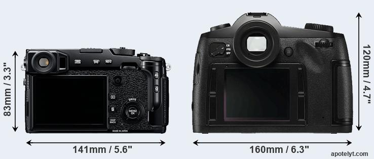 X-Pro2 and S Typ 006 rear side