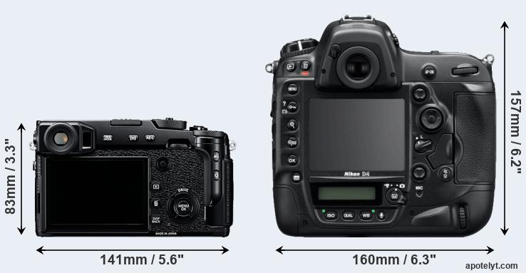 X-Pro2 and D4 rear side