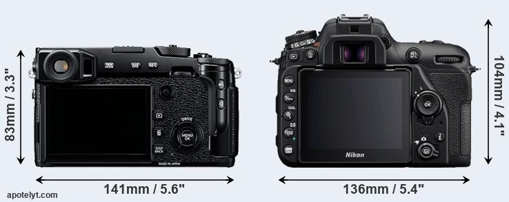 X-Pro2 and D7500 rear side
